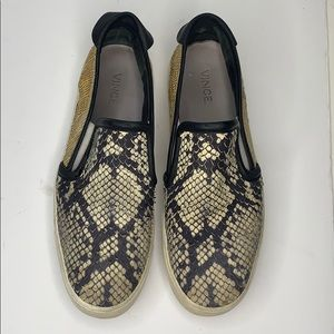 Vince reptile slip on shoes